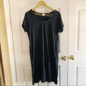 NWT J. Jill Navy TShirt Dress size 12